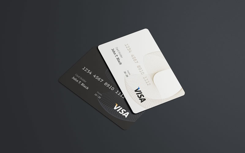 Debit or Credit / Visa Card Mockup PSD