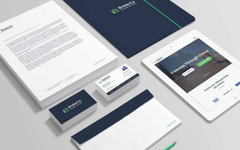Broker Mortgage Specialists Visual Identity